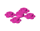 Plant Flower Small, 4 on Sprue, Dark Pink (3742c01 / 4216375)