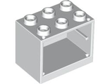 Container, Cupboard 2 x 3 x 2 - Solid Studs, White (4532a / 4258385 / 453201)