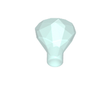 Rock 1 x 1 Jewel 24 Facet, Trans-Light Blue (30153 / 4119482 / 6247792)