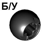 ! Б/У - Technic, Ball Joint with Through Axle Hole, Black (53585 / 4286267) - Б/У
