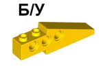 ! Б/У - Technic, Slope 33 6 x 1 x 1 2/3 Long Wing Back, Yellow (2744 / 4190417 / 4547043) - Б/У
