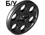 ! Б/У - Technic Wedge Belt Wheel (Pulley), Black (4185 / 418526 / 4198635 / 4494225 / 4648532 / 6192130) - Б/У