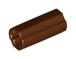Technic, Axle Connector 2L Smooth with x Hole + Orientation, Reddish Brown (6538c / 4531751)