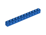 Technic, Brick 1 x 12 with Holes, Blue (3895 / 389523)