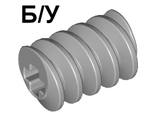 ! Б/У - Technic, Gear Worm Screw, Long, Light Bluish Gray (4716 / 4211510 / 6185471) - Б/У