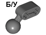 ! Б/У - Technic, Liftarm 1 x 2 with Ball Joint Angled, Dark Bluish Gray (50923 / 4289258 / 4503381) - Б/У