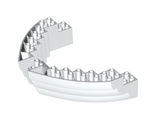 Boat, Hull Brick 16 x 10 x 3, White (64645 / 6036483 / 6061052)