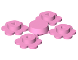 Plant Flower Small, 4 on Sprue, Bright Pink (3742c01 / 4222946 / 6000294)