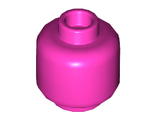 Minifigure, Head  Plain  - Hollow Stud, Dark Pink (3626c / 6029725)