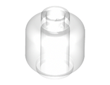 Minifigure, Head  Plain  - Hollow Stud, Trans-Clear (3626c / 3001140)
