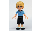 Friends Andrew, Dark Blue Cropped Trousers, Bright Light Blue Polo Shirt, n/a (frnd047)