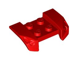 Vehicle, Mudguard 2 x 4 with Headlights Overhang, Red (44674 / 4185266 / 4500123 / 4653024)