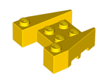 Wedge 3 x 4 with Stud Notches, Yellow (50373 / 4264028)