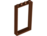 Door, Frame 1 x 4 x 6 with Two Holes on Top and Bottom, Reddish Brown (60596 / 4623513 / 6262952)