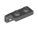 Hinge Plate 1 x 2 Locking with 1 Finger On End undetermined type, Dark Bluish Gray (44301)