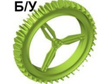 ! Б/У - Wheel Hard Plastic Spoked Giant Thin (160mm D. x 28mm), Lime (59521 / 4505520 / 4545216) - Б/У
