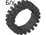 ! Б/У - Tire 24mm D. x 8mm Offset Tread, Black (3483 / 348326 / 4501048) - Б/У