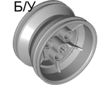 ! Б/У - Wheel 43.2mm D. x 26mm Technic Racing Small, 3 Pin Holes, Light Bluish Gray (41896 / 4211788) - Б/У