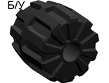 ! Б/У - Wheel Hard Plastic Small (22mm D. x 24mm), Black (6118) - Б/У