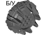 ! Б/У - Wheel Hard Plastic with Small Cleats and Flanges, Dark Bluish Gray (64712 / 4540178) - Б/У