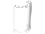 Cylinder Half 2 x 4 x 5 with 1 x 2 Cutout, Trans-Clear (85941 / 4641109)