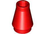 Cone 1 x 1 with Top Groove, Red (4589b / 4529234)