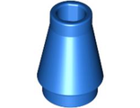 Cone 1 x 1 with Top Groove, Blue (4589b / 4529235)