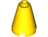 Cone 2 x 2 x 2 - Completely Open Stud, Yellow (3942c / 394224 / 6022159 / 6055404)