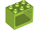 Container, Cupboard 2 x 3 x 2 - Solid Studs, Lime (4532a / 4625623)