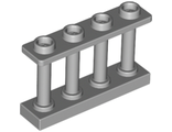 Fence 1 x 4 x 2 Spindled with 4 Studs, Light Bluish Gray (15332 / 6057449)