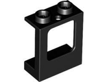 Window 1 x 2 x 2 Plane, Single Hole Top and Bottom for Glass, Black (60032 / 4539128)