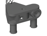 ! Б/У - Bionicle Rhotuka Connector Block 1 x 3 x 2 with 2 Pins and Axle Hole, Dark Bluish Gray (50901 / 4247658) - Б/У