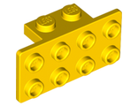 Bracket 1 x 2 - 2 x 4, Yellow (93274 / 4613344 / 6118828)
