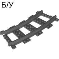 ! Б/У - Train, Track Plastic RC Trains Curve, Dark Bluish Gray (53400 / 4279717) - Б/У