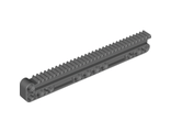 Technic, Gear Rack 1 x 14 x 2 with Axle and Pin Holes, Dark Bluish Gray (18942 / 6114979)